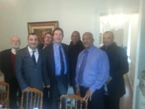Avec Bernard Lama, Star du foot, chef d'entreprise et engagé pour les Jeunes